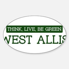 Green WEST ALLIS Oval Decal