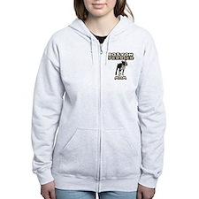 Boston Terrier Mom Zip Hoodie