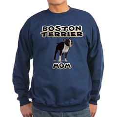 Boston Terrier Mom Sweatshirt (dark)