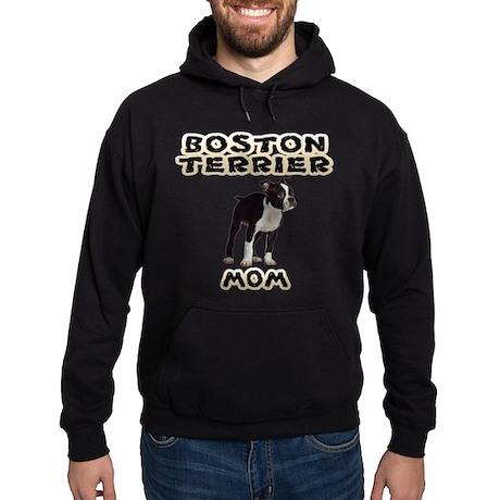 Boston Terrier Mom Hoodie (dark)