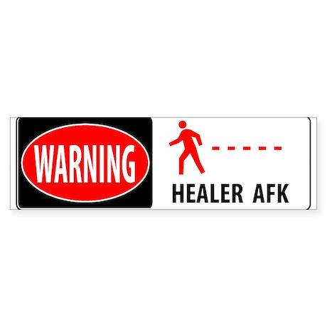 WARNING ! Bumper Sticker