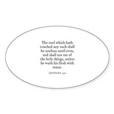 LEVITICUS 22:6 Oval Decal