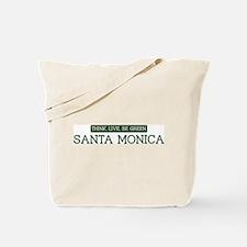 Green SANTA MONICA Tote Bag