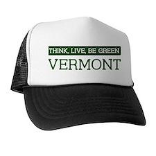 Green VERMONT Trucker Hat