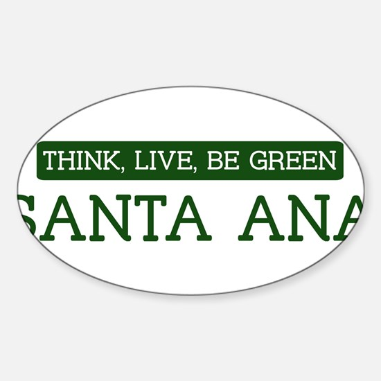 Green SANTA ANA Oval Decal