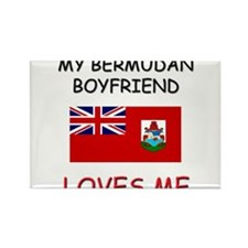 My Bermudan Boyfriend Loves Me Rectangle Magnet