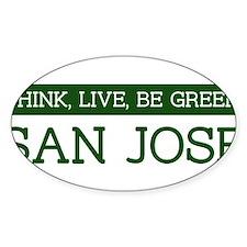 Green SAN JOSE Oval Decal