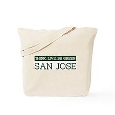 Green SAN JOSE Tote Bag