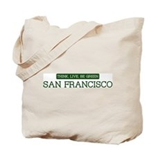 Green SAN FRANCISCO Tote Bag