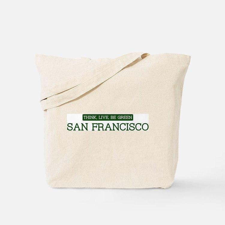 Green SAN FRANCISCO Tote Bag