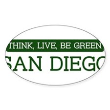 Green SAN DIEGO Oval Sticker