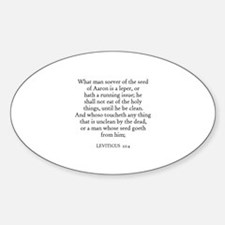 LEVITICUS 22:4 Oval Decal