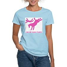 Pink Bucking Horse 'Stunts' Women's Pink T-Shirt