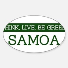 Green SAMOA Oval Decal