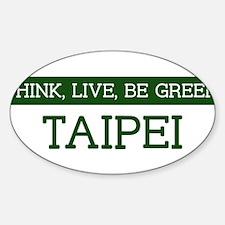 Green TAIPEI Oval Decal