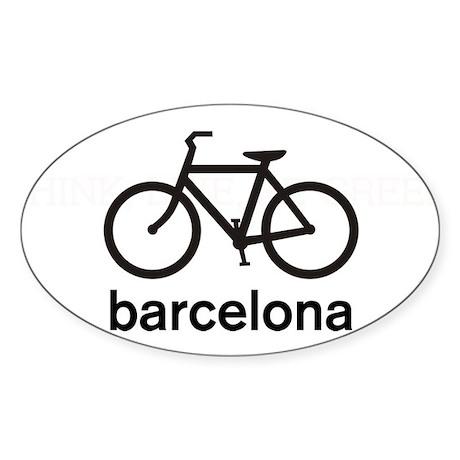 Bike Barcelona Oval Sticker