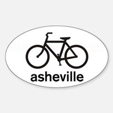 Bike Asheville Oval Decal
