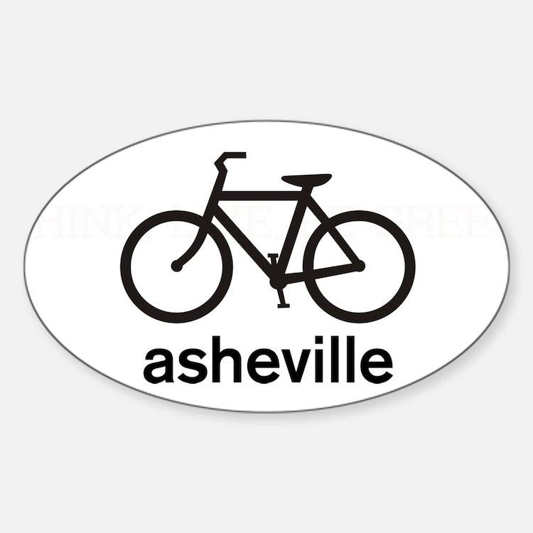 Bike Asheville Oval Decal