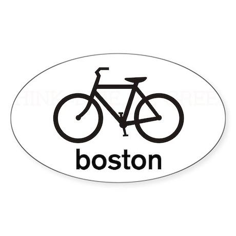 Bike Boston Oval Sticker