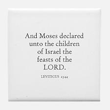 LEVITICUS  23:44 Tile Coaster