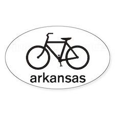 Bike Arkansas Oval Decal