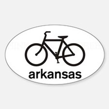 Bike Arkansas Oval Decal