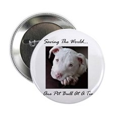 """Cute Pit bull 2.25"""" Button (10 pack)"""