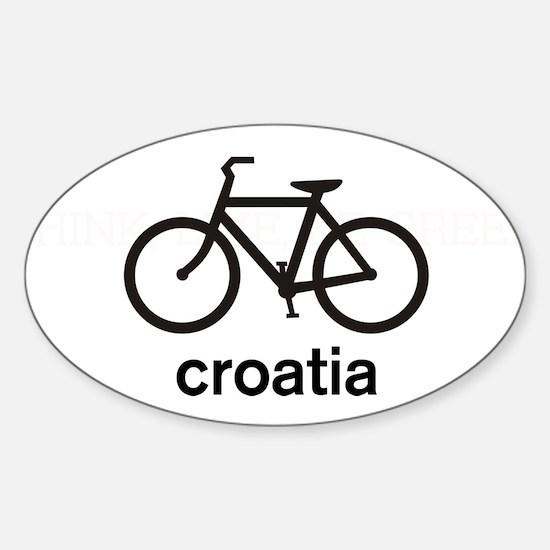 Bike Croatia Oval Decal