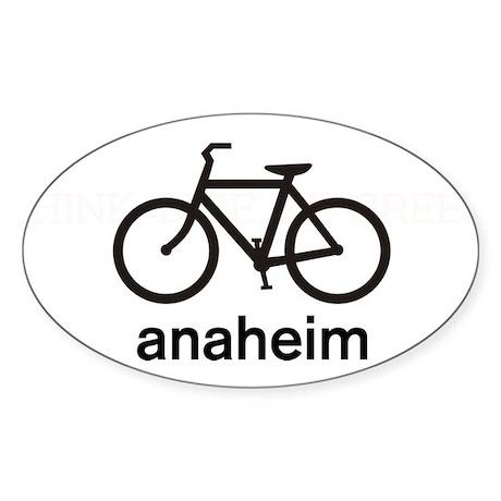 Bike Anaheim Oval Sticker