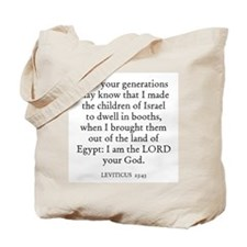 LEVITICUS  23:43 Tote Bag