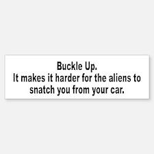 Aliens Driving Humor Bumper Bumper Bumper Sticker