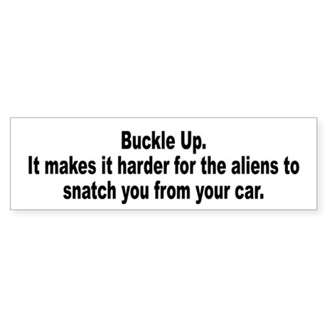 Aliens Driving Humor Bumper Sticker