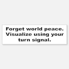 Use Your Turn Signal Bumper Bumper Stickers