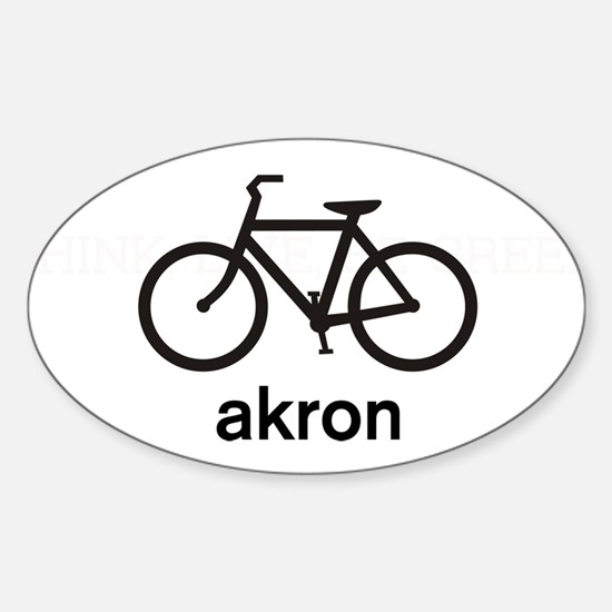 Bike Akron Oval Decal