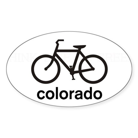 Bike Colorado Oval Sticker
