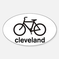 Bike Cleveland Oval Decal