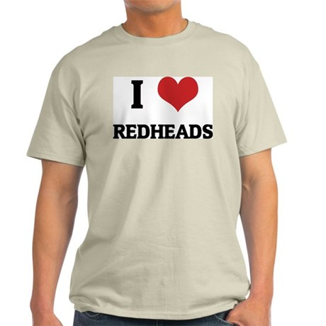 I Love Redheads Ash Grey T-Shirt