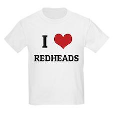 I Love Redheads Kids T-Shirt