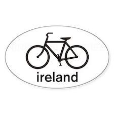 Bike Ireland Oval Sticker (10 pk)