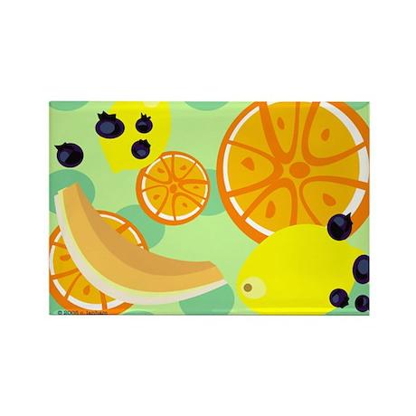 """Fruit Salad w/Polka Dots"" Rectangle Magnet (10 pa"