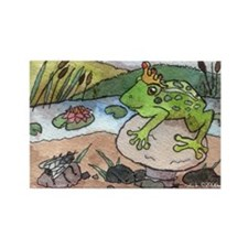 Frog Prince Fantasy Rectangle Magnet