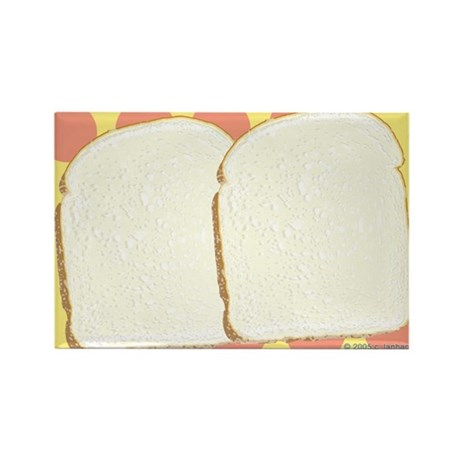 White Bread Food Rectangle Magnet