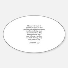 LEVITICUS 23:37 Oval Decal