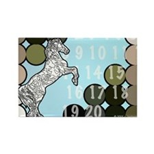 Paint by Numbers Horse Rectangle Magnet