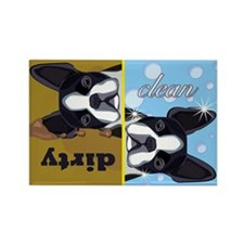 Dirty/Clean Boston Terrier Dog Magnet (100 pack)