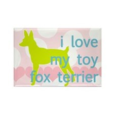 """""""I Love My Toy Fox Terrier"""" Rectangle Magnet"""