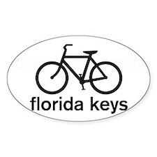 Bike Florida Keys Oval Sticker (10 pk)