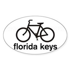 Bike Florida Keys Oval Bumper Stickers
