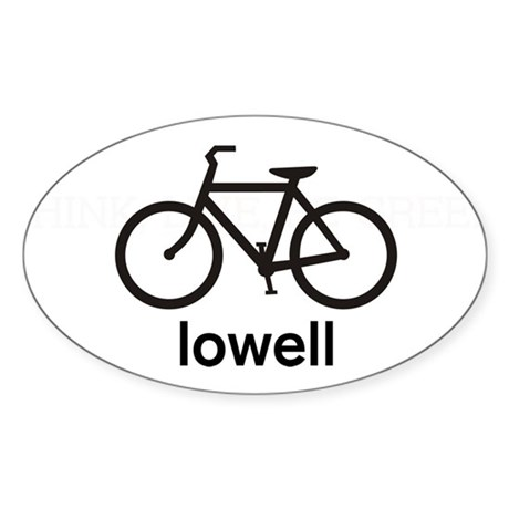 Bike Lowell Oval Sticker