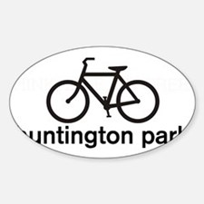 Bike Huntington Park Oval Decal